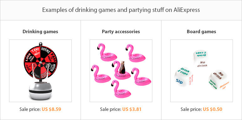 Drinking games and partying
