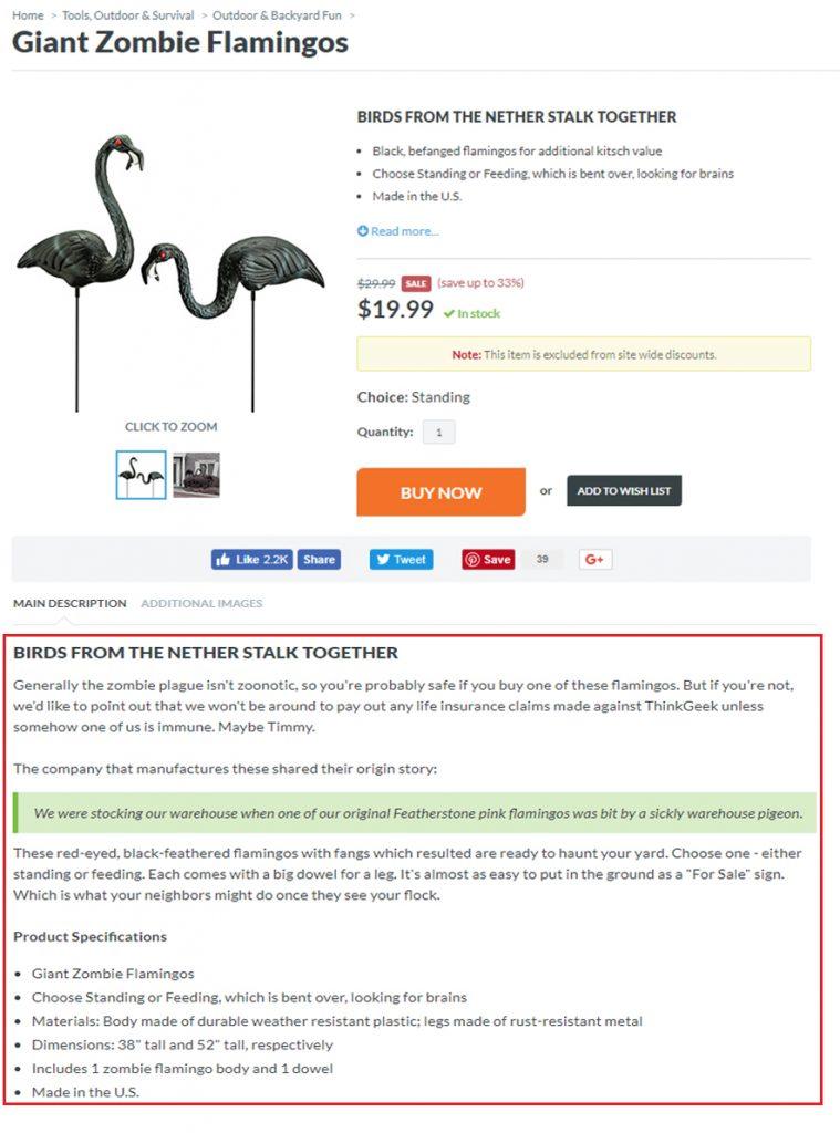 Product description tips