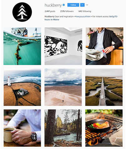 Instagram photography style