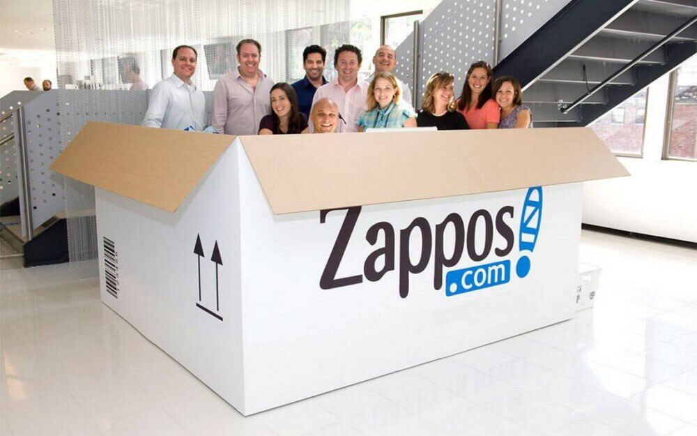 Zappos-team-people-carton-box-office
