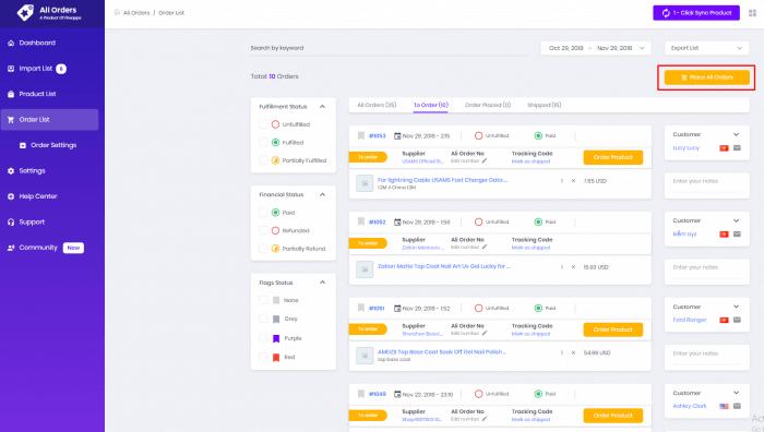 Ali-Order-App-Page