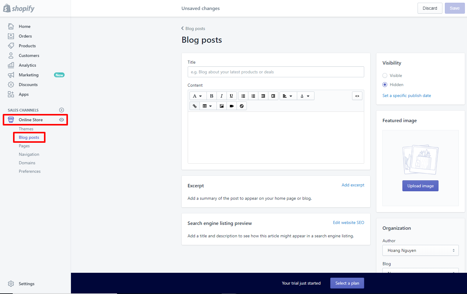 Add blogs to Shopify store