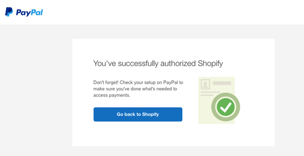 Connect to Paypal business account