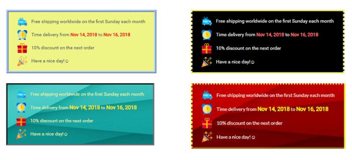 Sales-Box-theme-setting-customization-4-boxes-red-yellow-green-black