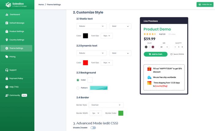 Sales-Box-product-design-theme-customization