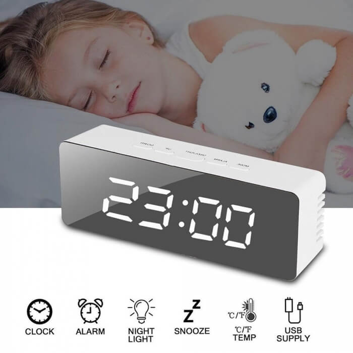 mirror-alarm-clock-white-and-black