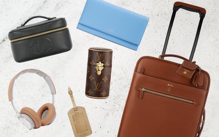 travel-set-suitcase-headphones-purse-luxury