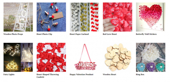 product ideas for dropshipping on Valentine's Day - Dinning out supplies