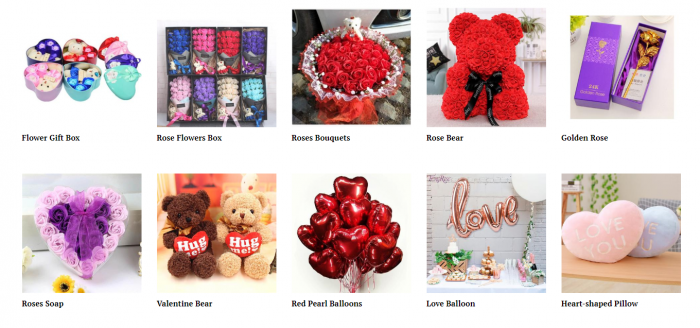 product ideas for dropshipping on Valentine's Day - Flower and accessories