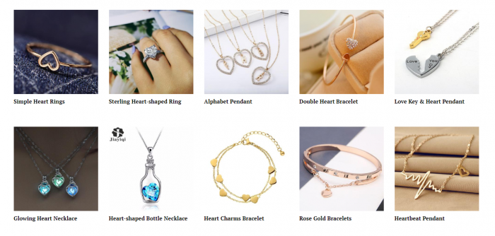 product ideas for dropshipping on Valentine's Day - Jewelry