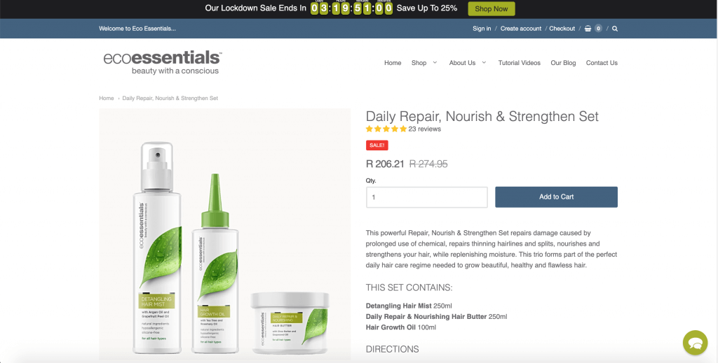 shopify-store-ecoessential-daily-repair-nourish-strengthen-set-product-page