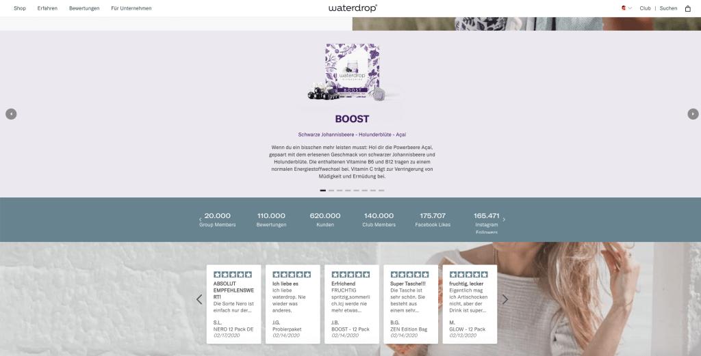 shopify-store-waterdrop-website-information