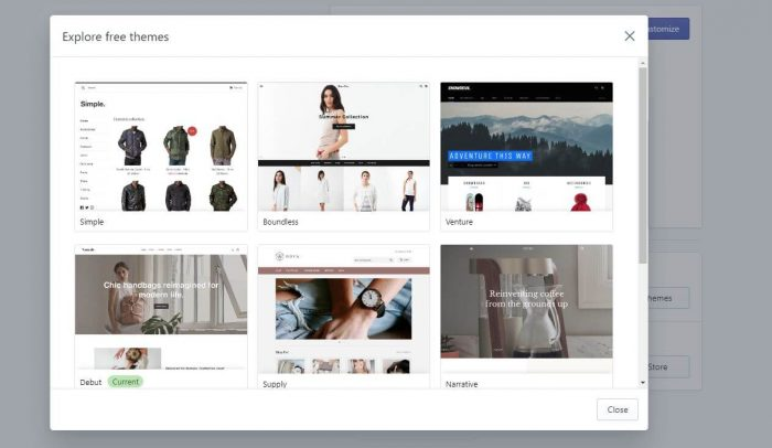 free-theme-to-set-up-shopify-store