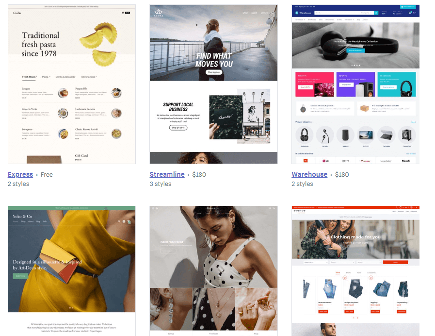 shopify-themes-library