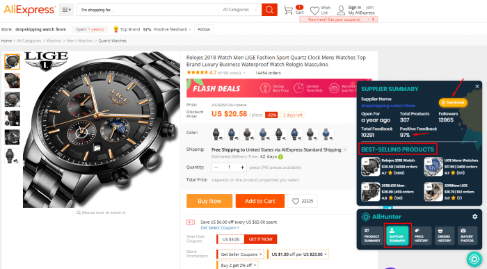 Ali-Express-watch-product-supplier-history-Ali-Hunter