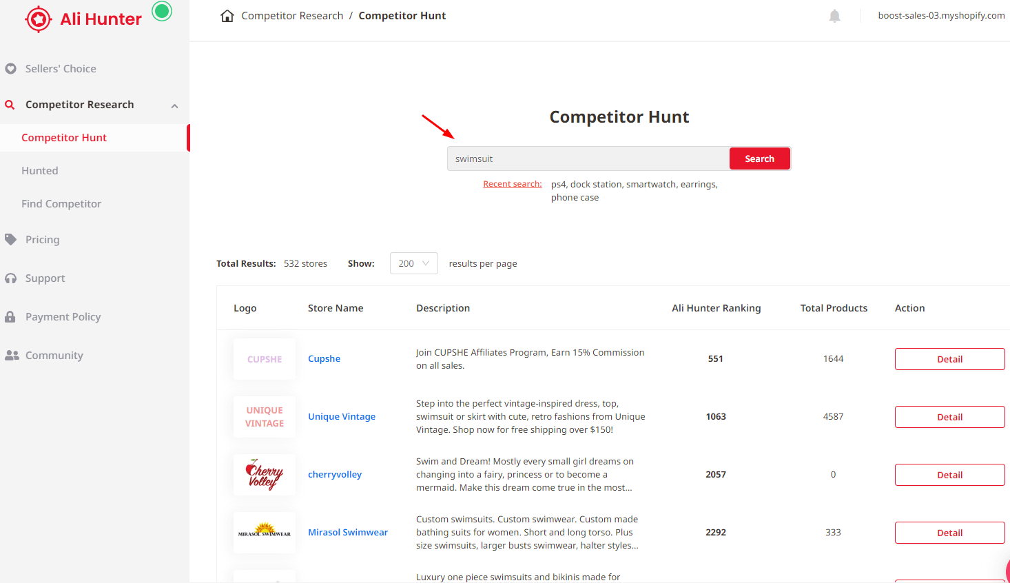 ali-hunter-in-app-function-competitor-hunt-search-products-by-keyword