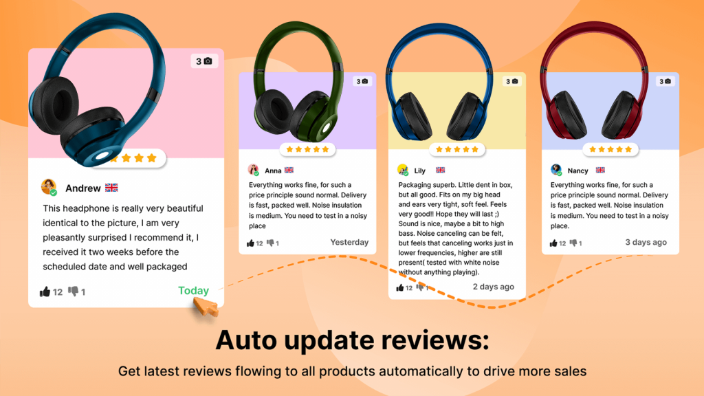 Auto update reviews to keep them fresh and credible.