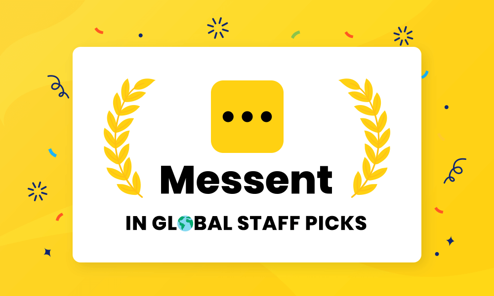 Messent getting featured on Shopify's Global Staff Picks