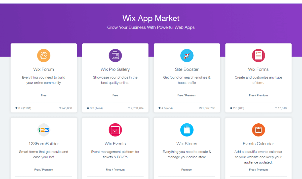 Wix e-commerce platform tons of extra features