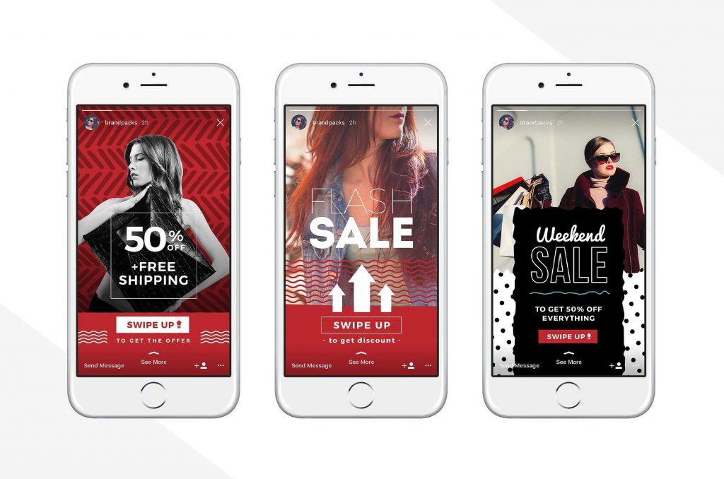Example Instagram Swipe Up For SMS Marketing