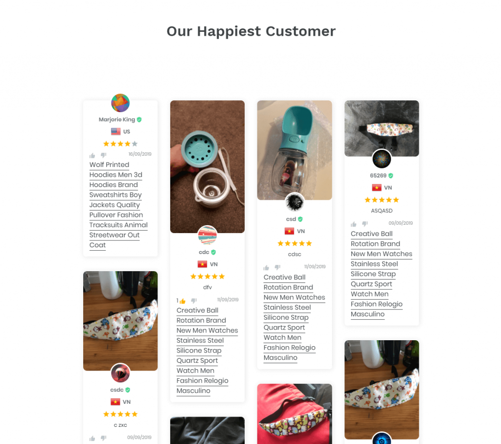 Review Box In Front End Shopify Store