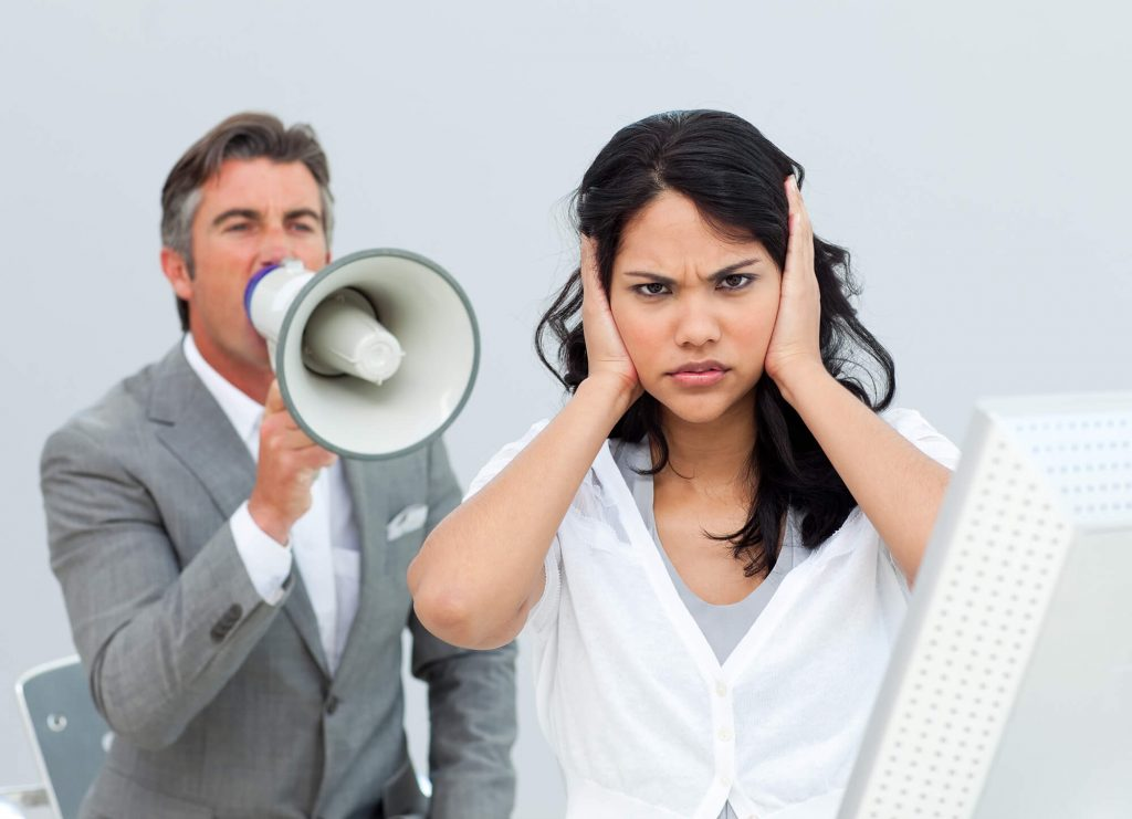 The Business Man And Employee Woman Conversation But The Woman Dont Want To Hear
