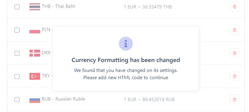 How to change Shopify currencies?