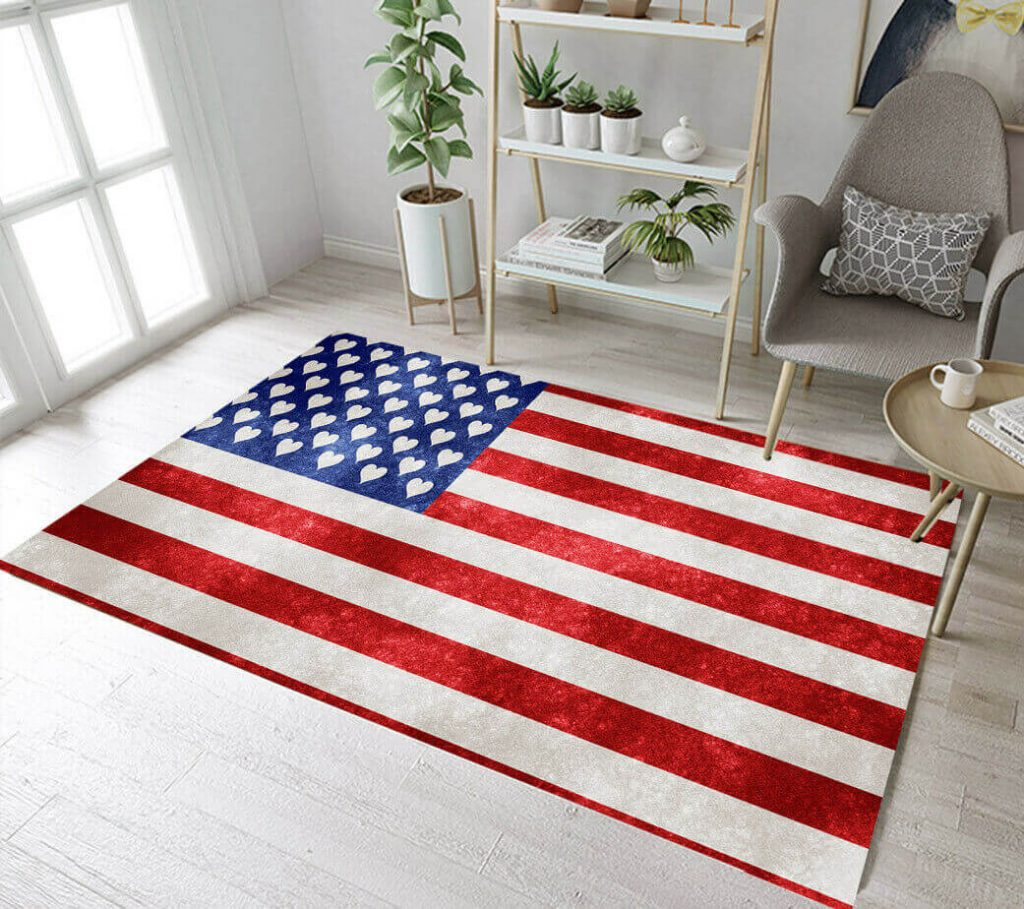 American Independence Day American Flag Rug
