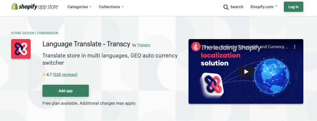Transcy vs Weglot Shopify translation apps