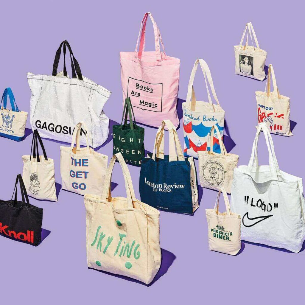 White label tote bags
