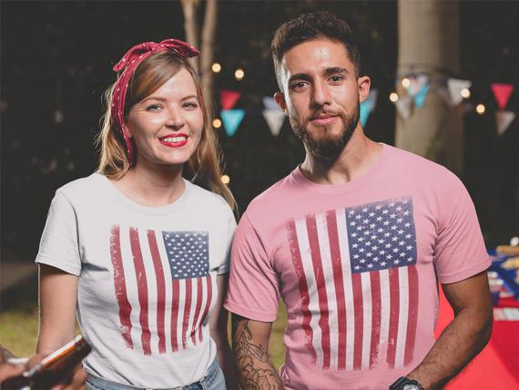 T-shirts with the American flag