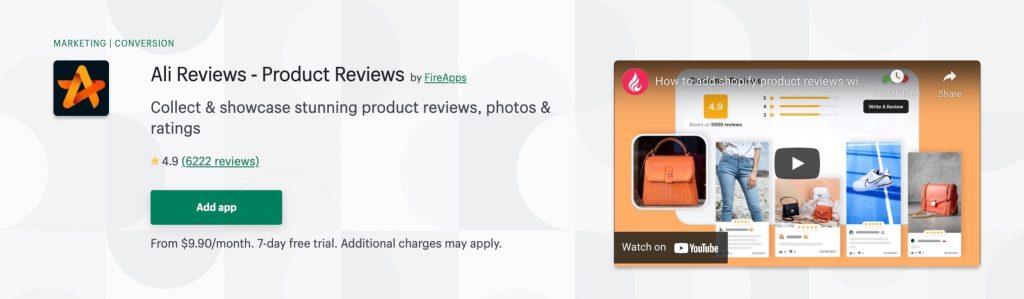 Display customer reviews