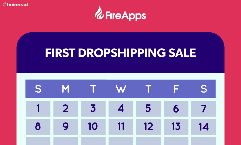 #1minread: 14-Day Challenge to your first dropshipping purchase