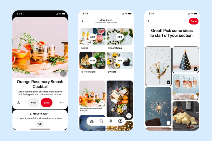 Organize board to sell Pinterest