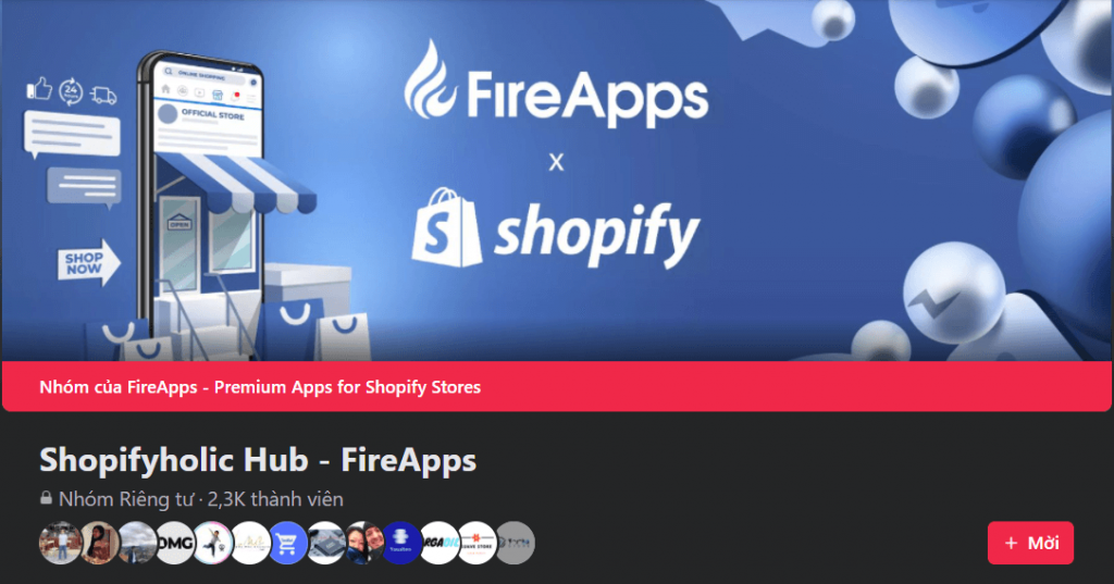 Facebook groups: Shopifyholic Hub - FireApps