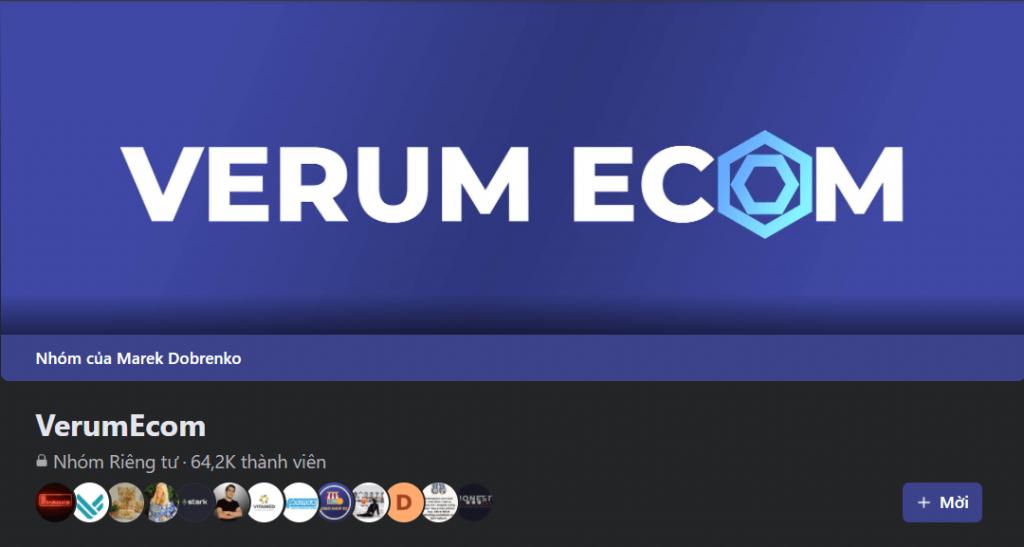Facebook groups: VerumEcom