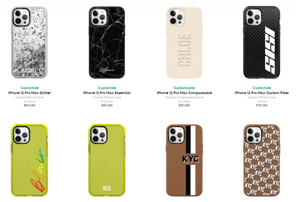 Print on demand products: phone cases