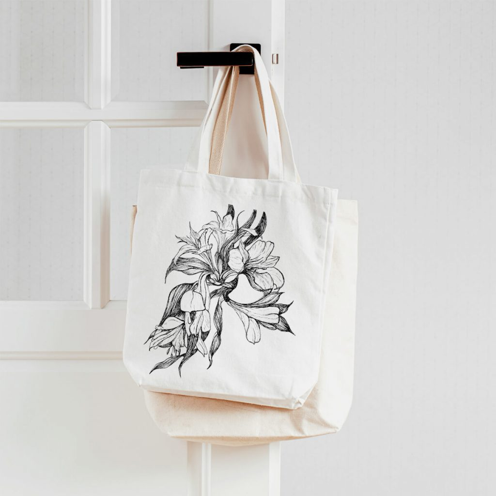 Print on demand products: tote bag