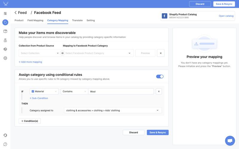 shopify google shopping feed