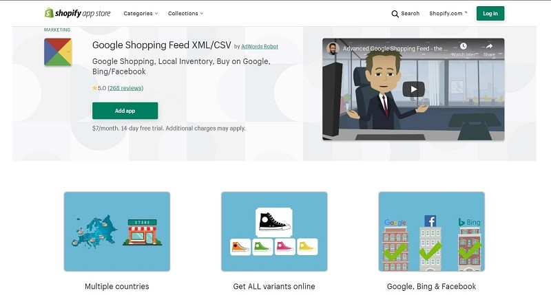 google shopping feed shopify