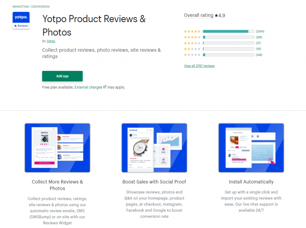 Shopify product review yotpo